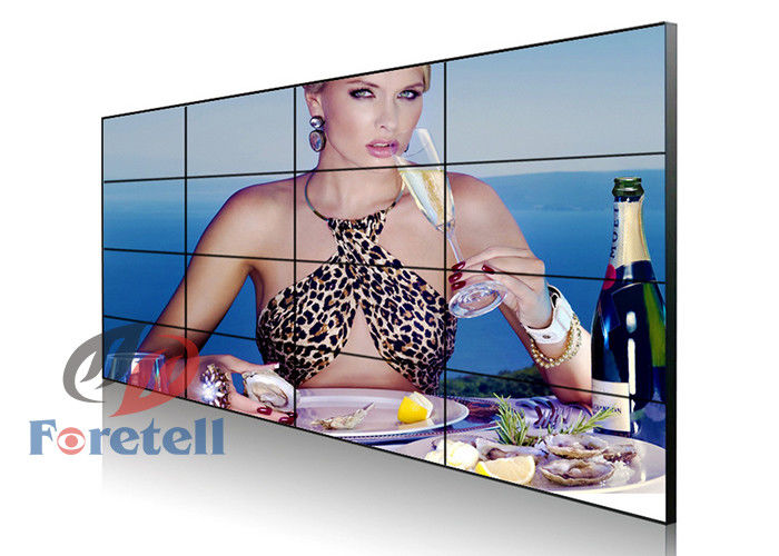 Wall Mounted Video Wall HD Video Display Wall Systems Low Heat Radiation